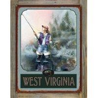 "West Virginia Alaena Fishing Metal Art Print by Dave Bartholet (9"" x 12"")"