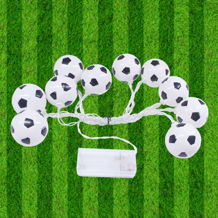 10 LED 2.13 Meters Soccer Football LED Strig Light Lamp Warm White 2 * AA Batteries Powered Operated for World Cup Theme Party Restaurant Home - Halloween Themed Restaurant Names