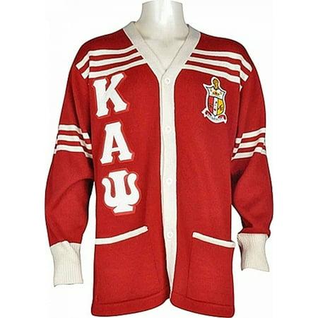 - Buffalo Dallas Kappa Alpha Psi Fraternity Mens Cardigan Sweater [Red - 2XL]
