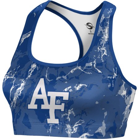 Prosphere Womens U S  Air Force Academy Marble Sports Bra