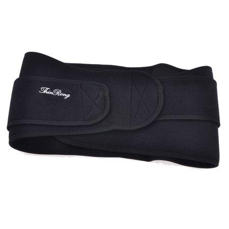 Fitness en néoprène élastique taille Trimmer Ceinture de soutien Brace Back Protector Noir