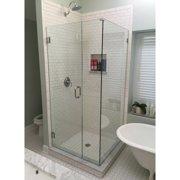 Glass Warehouse 59'' x 78'' Hinged Frameless Shower Door