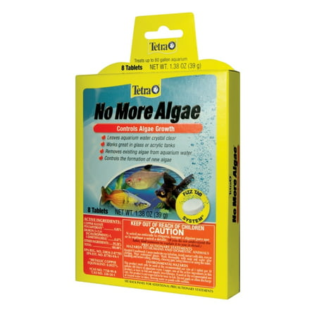 - Tetra No More Algae Tablets 8 Count, Controls Algae In Aquariums