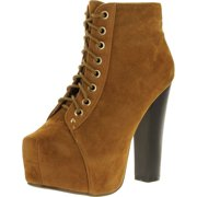 Delicacy Womens Jordon-03 Fashion Block Heel Booties Shoes