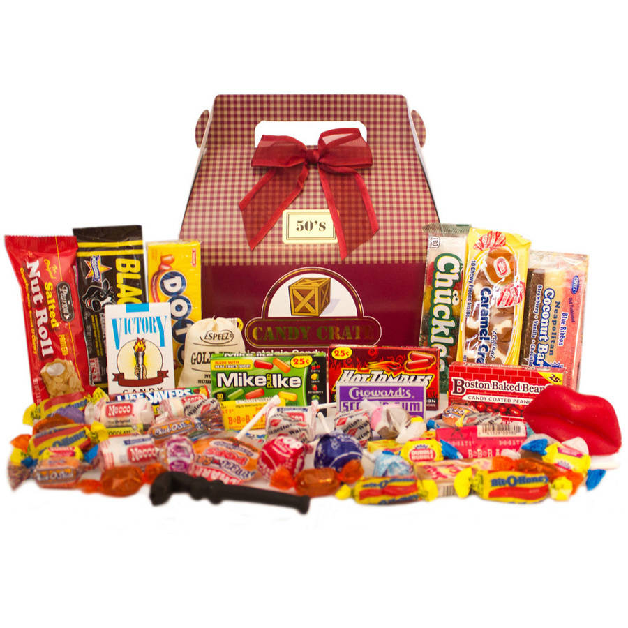 Candy Crate 1950's Retro Candy Gift Box, 2.5 lbs by