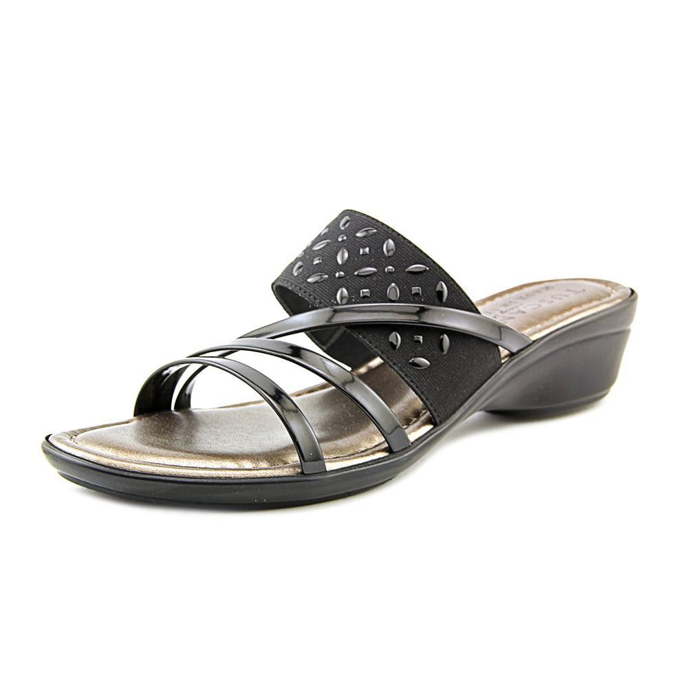 Easy Street Atessa Women N S Open Toe Synthetic Slides Sandal by Easy Street