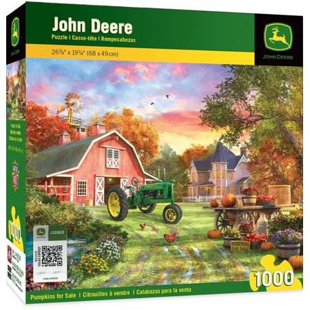 John Deere Pumpkins for Sale - Model B Tractor 1000 Piece Jigsaw Puzzle by Dominic Davison, Model B Tractor with Farmhouse puzzle By MasterPieces (Farm Tractor Games)