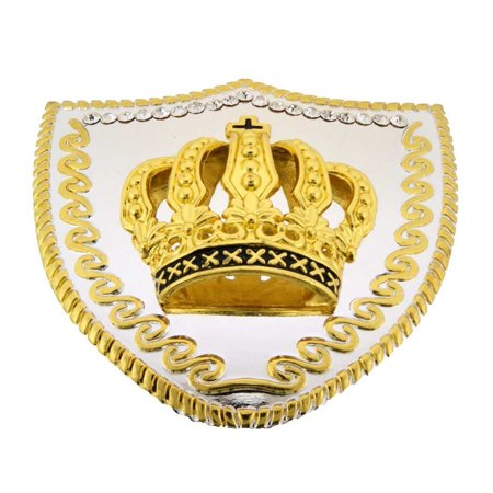 Princess Crown Costume (Royal Papa Large Crown Belt Buckle Bling Bride Metal Princess Fashion)