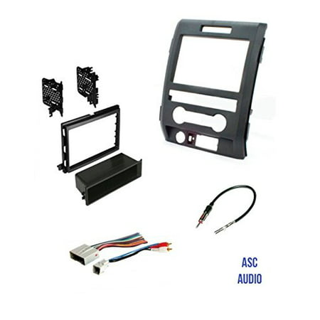 Install Audio Driver - ASC Audio Car Stereo Radio Install Dash Kit, Wire Harness, and Antenna Adapter to Add an Aftermarket Radio for some 2009 2010 2011 2012 2013 2014 Ford F150 F-150