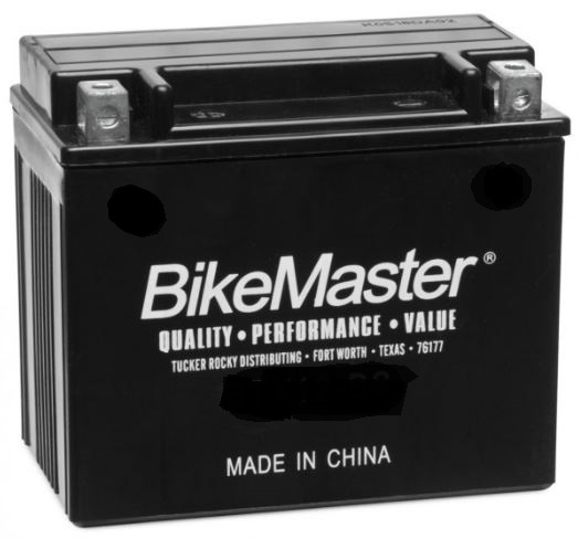 BikeMaster Maintenance Free Battery 75 CCA 114L x 70W x 130H mm Fits 2013 Can-Am Renegade 850 4x4 XXC DPS