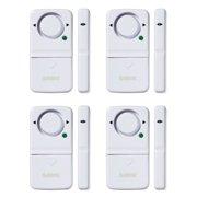 SABRE Wireless Home Security Door Window Burglar Alarm with LOUD 120 dB Siren - DIY EASY to Install - 4 Pack