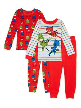 Pj Masks Toddler Boys 4pc Snug Fit Pajama Pant Set Size 2T 3T 4T $44