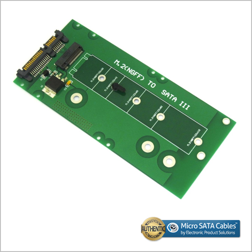 M.2 SSD to SATA Adapter Extended Card with Latching Quick Release Clip