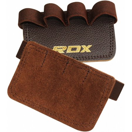 RDX Leather Gym Weight Lifting Grips Pull up Gymnastics Fitness Workout Hand Grip Pad (Leather Hand Grip)