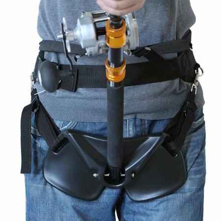 Big Fish Sea Fishing Fighting Belt Rod Holder Tackles Adjustable Belt Waist Rod (Best 2mm Lead Holder)