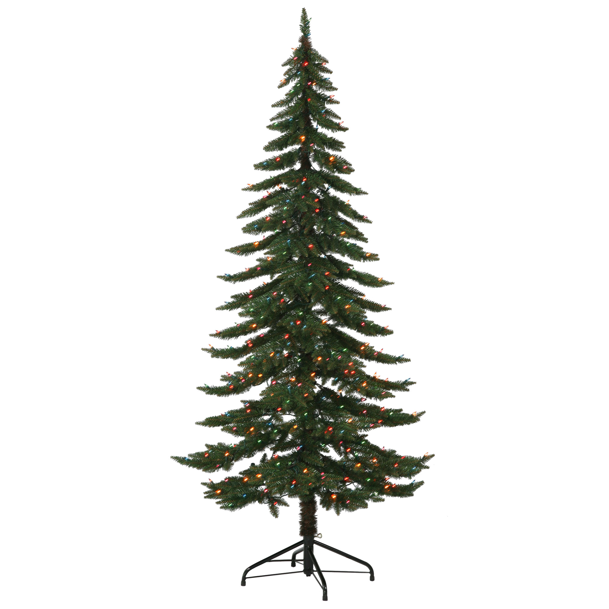 7.5' Ft Pre-Lit Ridgeline Alpine Spruce Artificial Christmas Tree MultiColor LED