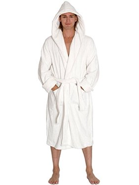 Product Image Heavy Mens 3.5lb White Hooded Terry C+B4 B11loth Bathrobe. Full  Length d7f7dd95c