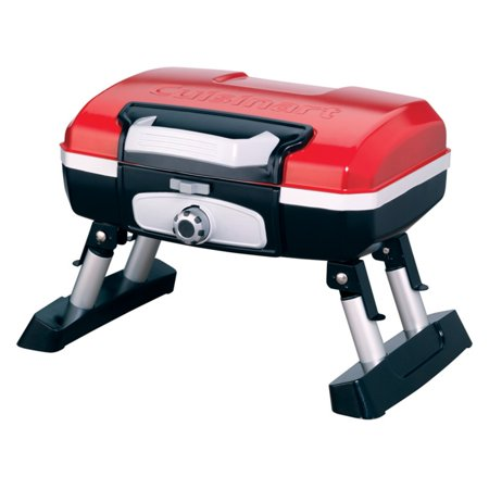 Cuisinart CGG-180T Petite Gourmet Portable Tabletop Outdoor Gas Grill, Red ()