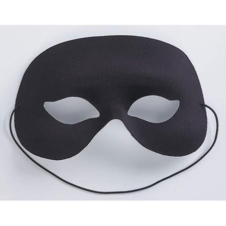 Mask Quarter Face Black 6.5In (Tool No Quarter Halloween)