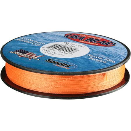 Honeywell Spectra 174 Usa Braid Orange Braided Superline 150 Yd Pack Walmart Com