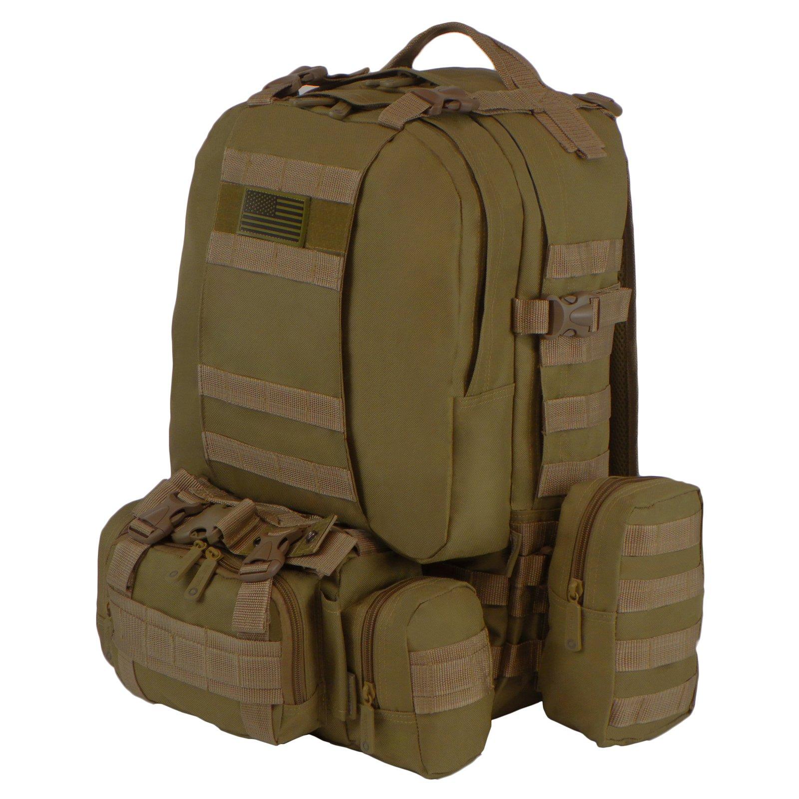 East West U.S.A. Tactical Molle Military Rucksack Trekkin...
