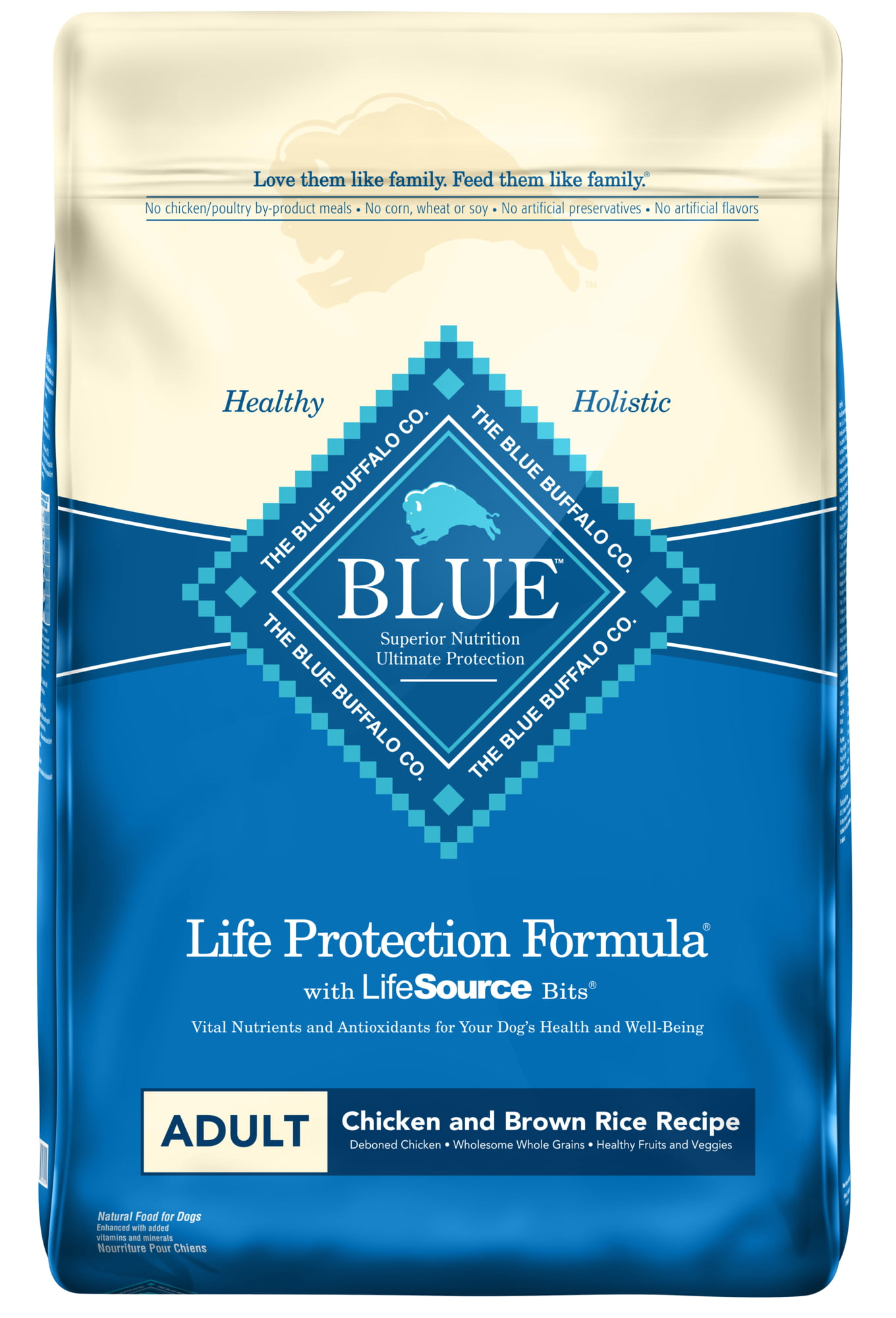 Click here to buy Blue Buffalo Life Protection Formula All Breeds Adult Dry Dog Food, Chicken and Brown Rice Recipe by Blue Buffalo.