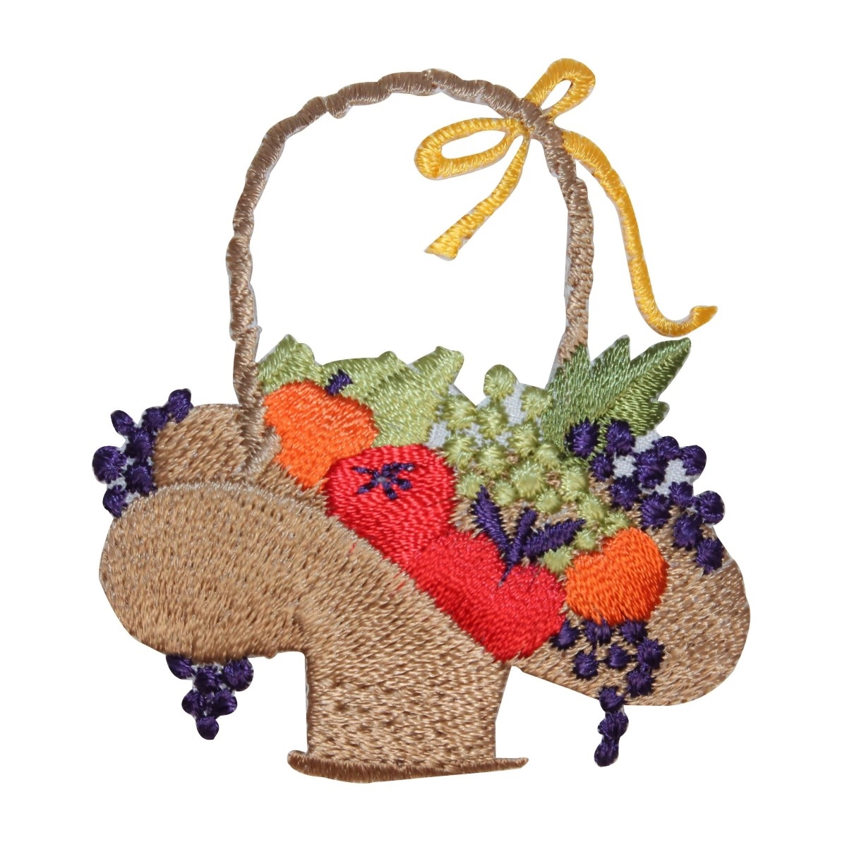 ID 1382 Basket Full of Fruit Patch Summer Set Piece Embroidered Iron On Applique