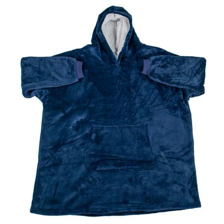 New Hoodie Blanket Soft Oversized Ultra Plush Sherpa Big Sweatshirt Reversible