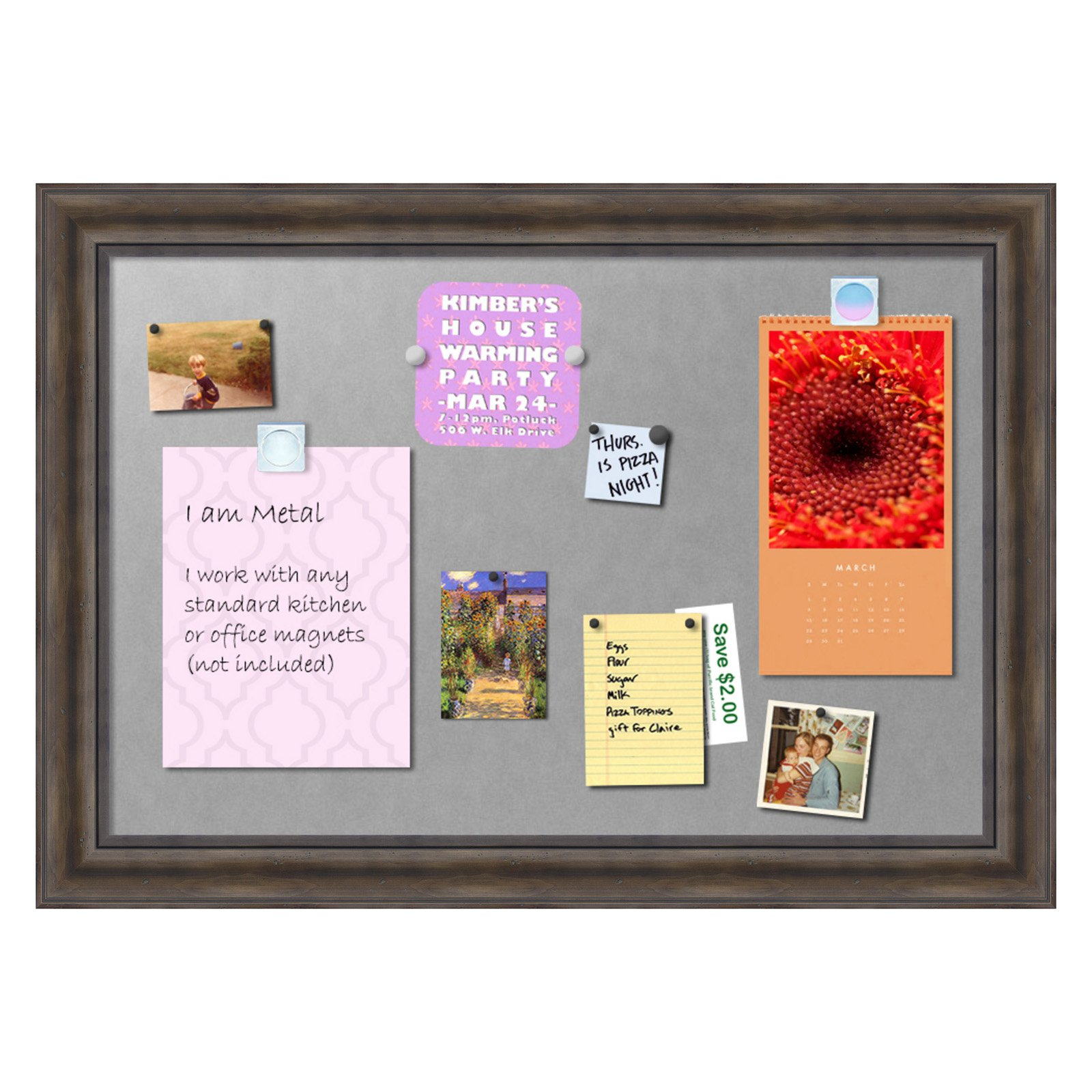Amanti Art Rustic Pine Framed Magnetic Board