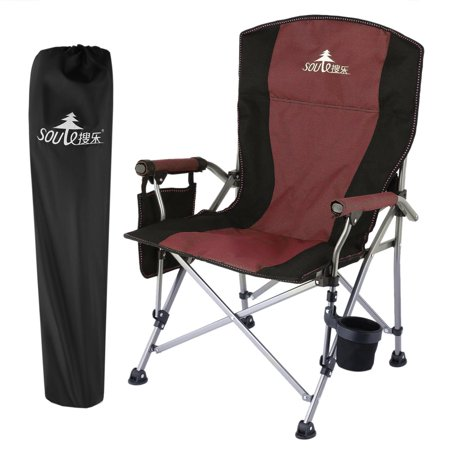 Outdoor Portable Beach Camping Hiking Fishing Folding Chair with Cup Holder cbst
