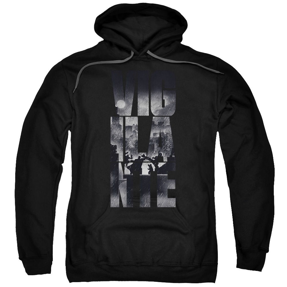 Batman V SUPERMAN RAINY VIGLANTE-ADULT PULL-OVER HOODIE-BLACK-2X by DVRunlimited Inc.