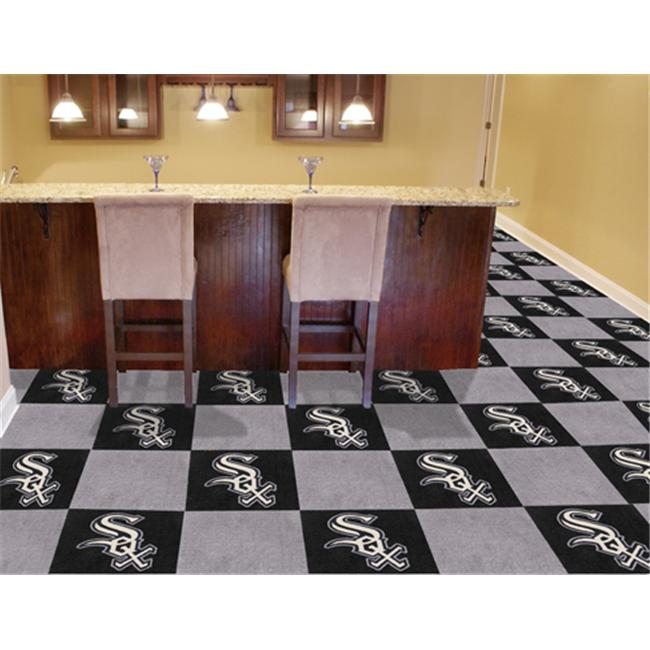 FanMats White Sox Carpet Tile F0008579