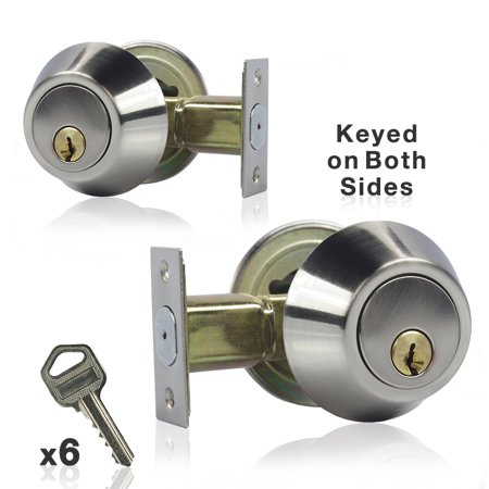 Loadstone Studio 2 Pack Dual Keyed Double Cylinder Deadbolt Key Entrance On Both
