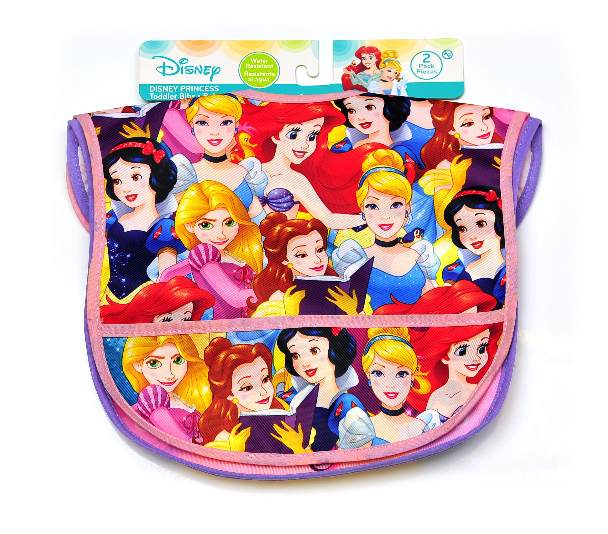 Princess Nylon Bibs, Pack of 2