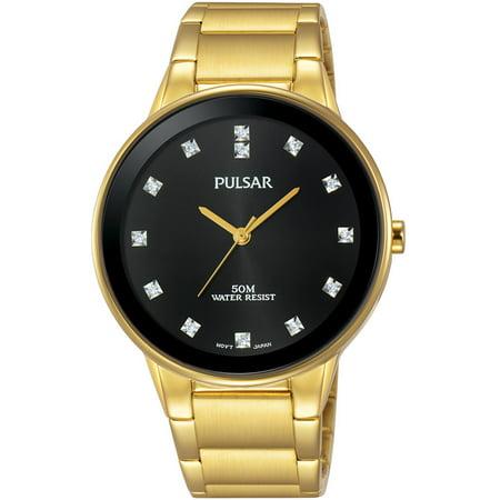 Easy Style Mens Crystal Marker Dress Watch - Gold-Tone - Bracelet