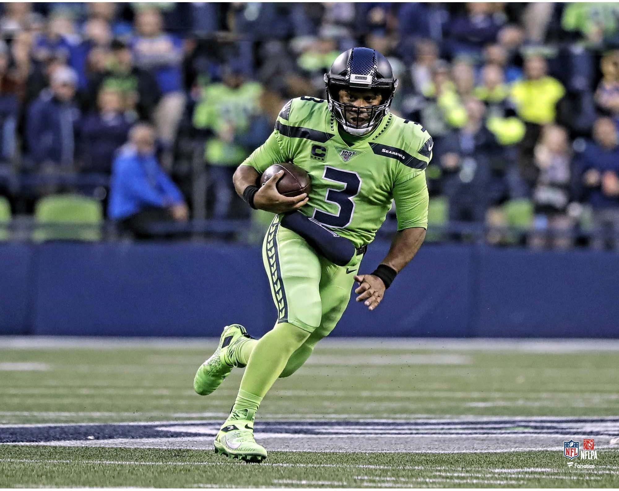 Russell Wilson Seattle Seahawks Unsigned Color Rush Scramble Photograph Walmart Com Walmart Com