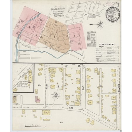 LAMINATED POSTER24x36 Sanborn Fire Insurance Map from Irwin, Westmoreland  County, Pennsylvania