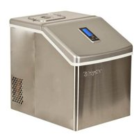 """EdgeStar IP211 Stainless Steel 11"""" Wide 2.2 Lbs. Capacity Portable Ice Maker with 20 Lbs. Daily Ice Production"""