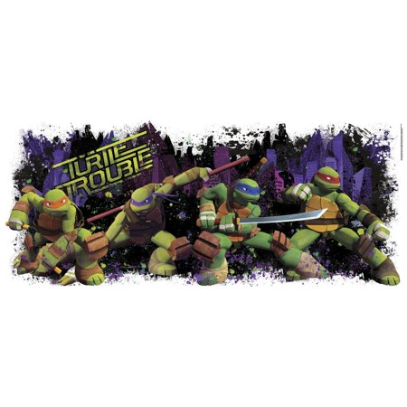 Rmk2326Gm Tmnt Turtle Trouble Graphix Peel And Stick Wall Decals, Comes with 1 decal; Assembled size 39