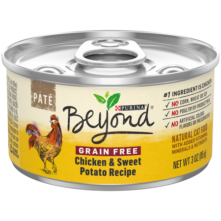 Purina Beyond Grain Free, Natural Pate Wet Cat Food, Grain Free Chicken & Sweet Potato Recipe - (12) 3 oz. Cans