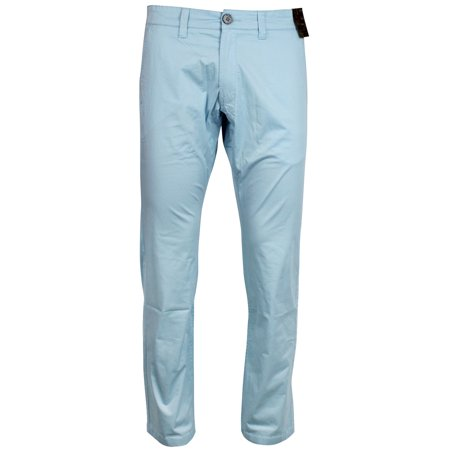 Jack South London Men's Slim Fit Straight Leg Casual Pants Chino Trousers (Sky Pointer)