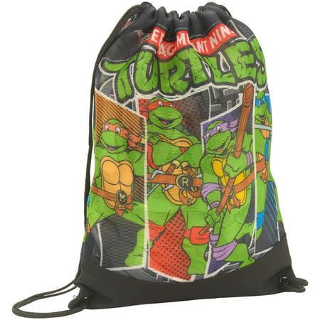 Teenage Mutant Ninja Turtles Mesh Cinch Drawstring Backpack Bag ...