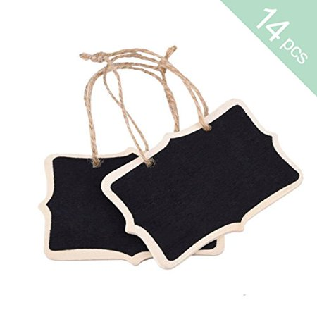 14 Mini Chalkboards Wood BlackBoard Double Sided Signs Rectangle Message Board for Wedding Kids Craft Garden shop