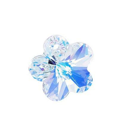 Swarovski Crystal, #6744 Flower Pendant 18mm, 1 Piece, Crystal AB