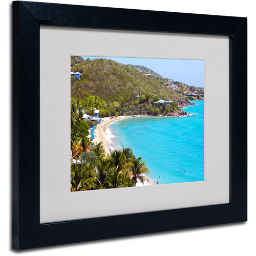 "Trademark Fine Art ""Virgin Islands 10"" Matted Framed Art by CATeyes"