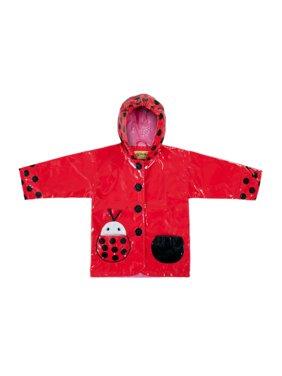 Kidorable PCOAT-LB Ladybug Rain Coat, 4T