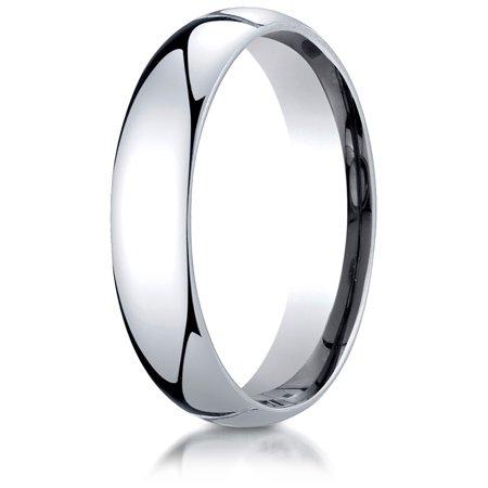 Palladium 5mm Slightly Domed Standard Comfort-fit Ring