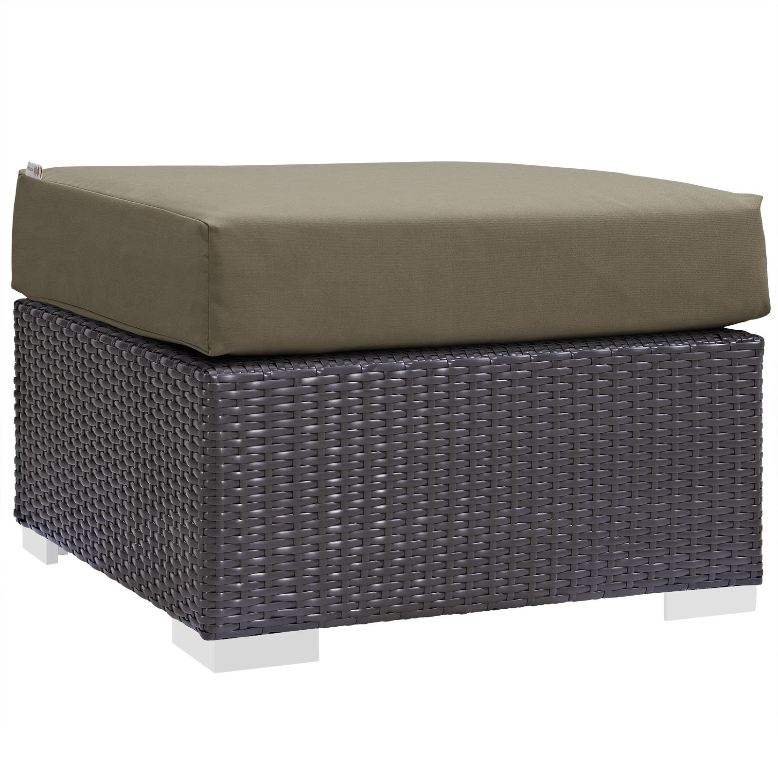 Great Modway Convene Outdoor Patio Fabric Square Ottoman, Multiple Colors