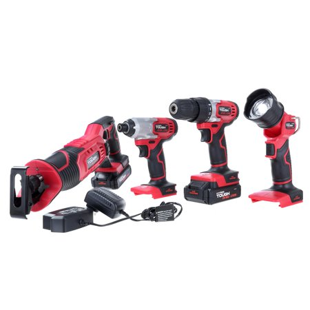 Hyper Tough Ht 20-Volt 4-Tool Combo Kit AQ90146G