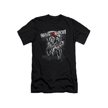 Sons Of Anarchy Crime Drama Series Reaper Logo Adult Slim T-Shirt Tee - Sons Of Anarchy Happy Halloween